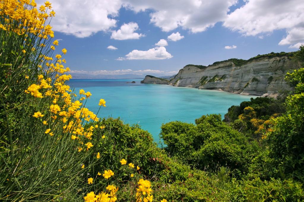 Korfu északi partja