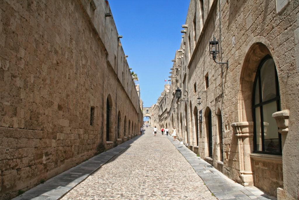Lovagok utcája Rodosz városban