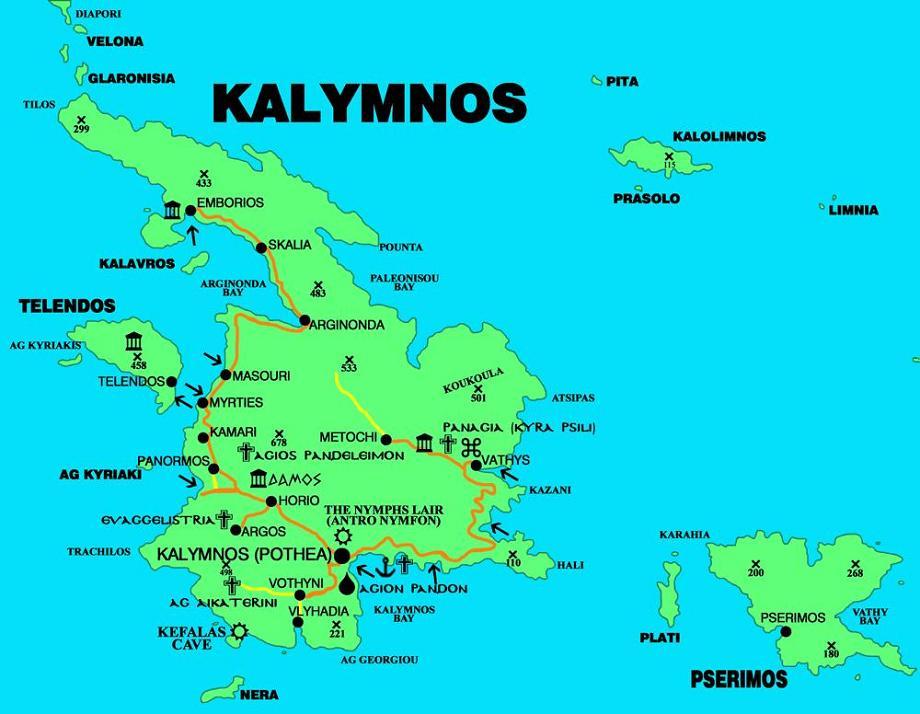 Kalymnos és a közigazgatásilag hozzá tartozó szigetek