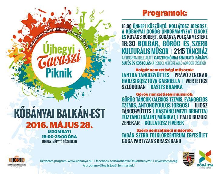 Kőbányai Balkán Est Plakát