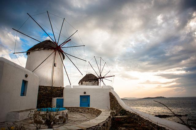 Mykonos Szélmalom Görög Szigetek
